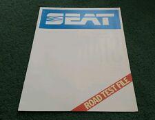 1986 / 1987 SEAT IBIZA 3 & 5 DOOR ROAD TEST FILE - UK BROCHURE