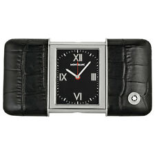NEW MONT BLANC MONTBLANC DESIGNER SLIDING SWISS PEN TRAVEL ALARM WATCH CLOCK