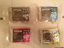 4 Pack Brand New Genuine EPSON 124 125 Ink Cartridges T124 T125 NX125