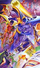 ALEX ROSS rare HISTORY OF BATMAN paper giclee SIGNED 75th Anniversary art COA