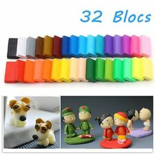 32pcs DIY Craft Malleable Fimo Polymer Modelling Soft Clay Block Plasticine TOY
