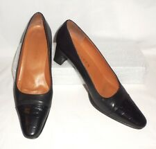 LAUREN RALPH LAUREN, 8.5M (US), Womens Mid-Heel, Leather Dress-Pumps/Shoes Black