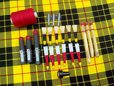 New Highland Bagpipe Accessoriess Reeds,Hemp,Velve Drone Reed Set Of 23 Pcs