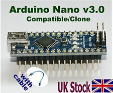 Arduino Nano V3.0  Compatible – Clone ATmega328 Mini USB Board + USB Cable – UK