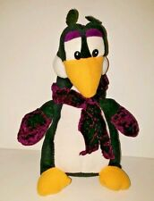 Classic Toy Co. Plush Penguin Purple/White/Gold With Purple Scarf/Gloves/Hat