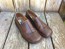 Women's Josef Seibel Brown Leather Slip On Shoes Loafers Sz 38, 7.5/8 US