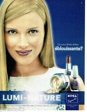 PUBLICITE ADVERTISING 126  2000   Nivea beauté maquillage vernis Lumi-Nature