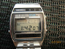 Rare Vintage SEIKO  A258-5060 Retro Digital SOLAR watch 80's