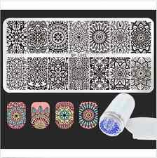 Born Pretty Mandala Nagel Stamping Schablone & Jelly Stamper Scraper Set DIY