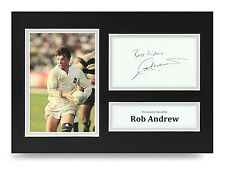 Rob Andrew Signed A4 Photo England Rugby Autograph Display Memorabilia
