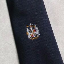 COAT OF ARMS SHIELD CREST TIE VINTAGE CLUB ASSOCIATION TOYE KENNING 1980s 1990s