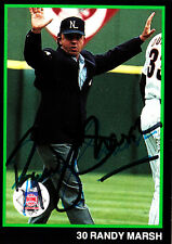 MLB UMPIRE Randy Marsh SIGNED RARE 1988 UMPIRES SET CARD AUTOGRAPHED