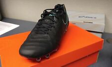 Nike Tiempo Legend VI FG 819177-004 Black Turquoise Mens US Size 8.5, UK 7.5