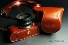Real Leather Full Camera Case Bag Cover for Samsung NX210 NX200 Zoom Lens