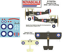 AFC Sopwith Pup WWI Mini-Set Decals 1/72 Scale N72070a