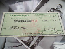 JACK HALEY AUTOGRAPHED F auto hand SIGNED business check WIZARD OF OZ TIN MAN