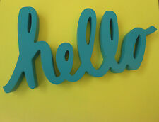 """10.5"""" Wood Sign """"HELLO"""" - Home Decor - FAST SHIPPING!"""