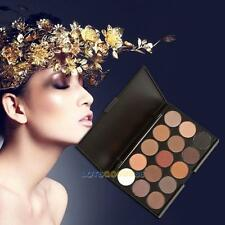 15 Color Cosmetic Matte Eyeshadow Cream Eye Shadow Makeup Palette Shimmer Set #L