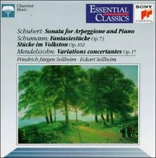 Schubert: Sonata for Arpeggione and Piano / Mendelssohn: Variations concertante