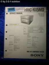 Sony Service Manual HMC NX5MD Component System (#6668)