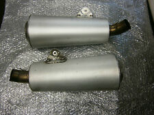 DUCATI MONSTER 646 796 1100 0EM PAIR OF EXHAUST SILENCER MUFFLER END CAN PIPES