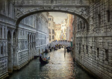 BRIDGE OF SIGHS VENICE ITALY NEW A2 CANVAS GICLEE ART PRINT POSTER FRAMED