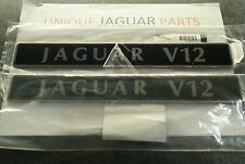 "NEW "" JAGUAR V12 "" XJS XJ12 ENGINE INLET MANIFOLD BADGES EMBLEMS PLAQUES LOVELY"
