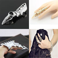 Icon Fashion Retro Vintage Rock Punk Joint Armor Knuckle Full Finger Rings