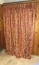 Custom Drapes Draperies Red and Gold - 4 Panels - 95L x 26W