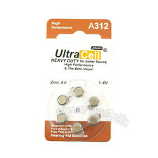 6 x Zinc Air Hearing Aid Battery 312 A312 PR41 7002ZD 312A B347PA AC312 ME7Z