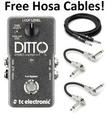New TC Electronic Ditto Stereo Looper Guitar Effects Pedal! Hosa Cables!