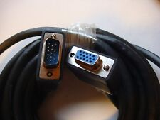 Two 25' SVGA Super Shielded Extension cable DB15HD Male to Female 17662 *-7