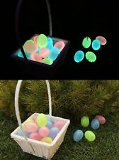Egglo Glow in the Dark Easter Eggs (12) for Kid's Easter Egg Hunt Games, Baskets