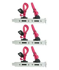 3x 2 Port SATA Serial ATA Internal to eSATA External PCI Slot Bracket Adapter