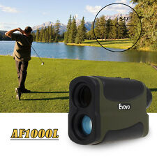 6x1000 Yd Waterproof Hunting Laser Rangefinder Distance Speed Measurer+2xBattery