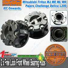 2 X Manual Free Lock Wheel Hubs Mitsubishi Triton MJ ME ML MK Pajero Challenger
