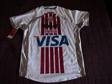 Team Necaxa Mens Official Soccer Jersey Potero Voit White/Silver Size S 2009
