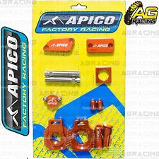 Apico Bling Pack Orange Blocks Caps Plugs Nuts Clamp Covers For KTM SX 85 2007