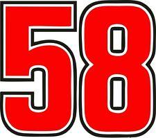 ADESIVI NUMERO 58 MARCO SIMONCELLI 15 CM (2 PZ.)