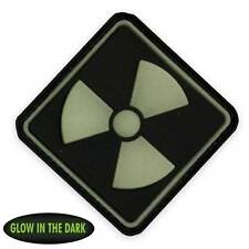 NEW 3D PVC Radioactive Tactical Biker Morale Patch Black Front Glow in the Dark