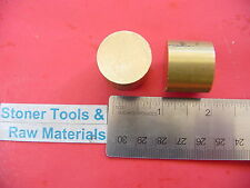 """2 Pieces 1"""" BRASS C360 ROUND ROD 1"""" long H02 Solid New Lathe Bar Stock"""
