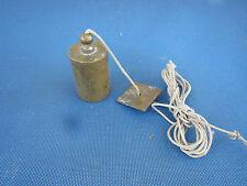 ancien rare fil à plomb en laiton maçon - plum bob - outil de géomètre