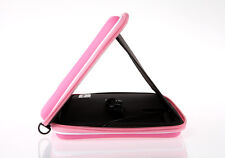 "Pink PU Leather Case Cover Bag Speaker Stereo Sounder for 10"" inch Tablet PC New"