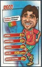 MATCH MAGAZINE SOCCER STAR CARICATURE CARD-PORTUGAL-DECO