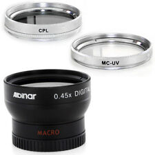 37mm Wide Angle Lens, CPL, MCUV Filters for Sony Handycam CCD TRV87E, TRV138,USA