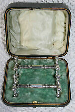 Antique Boxed Silver Plated Pair of Knife/Spoon Rests Table Ware Vintage Dining