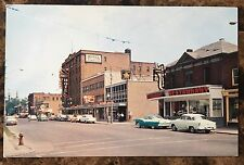 Postcard Second Street Looking East Cornwall Ontario ONT Canada The Seaway City