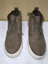 FOREVER 21 Women faux suede brown High Top canvas casual  Shoe size 8