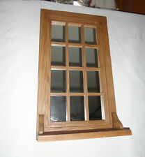 Home Interiors Brown Resin'' Mirrored Window with Shelf ''Gorgeous 13'' x 22.5''
