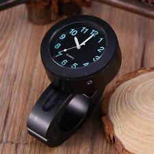 """Universel 7/8 """"-1"""" Moto Guidon Horloge Mount Étanche Imperméable Glow Montre"""